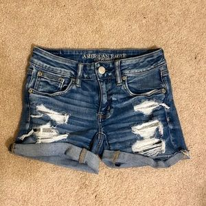 American Eagle Outfitters Shorts - AE Ripped Denim Shorts